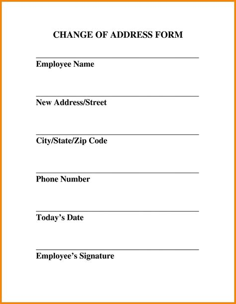 Change Of Address Template Free 8 change of address template resume reference