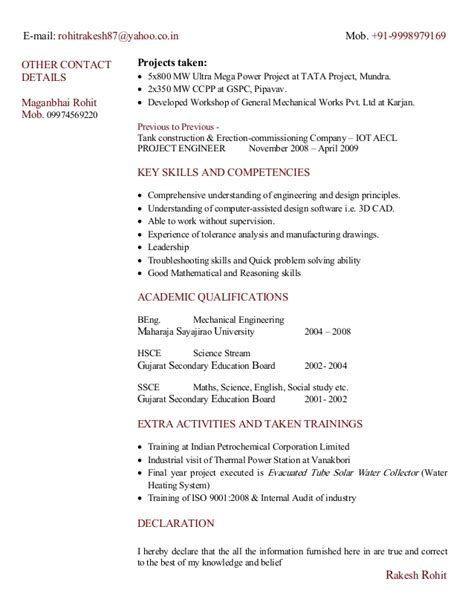 collection of key skills in resume for mechanical engineer best