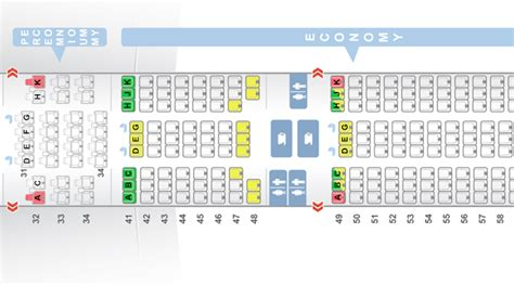 777 300er seat map review singapore airlines 777 300er in premium economy