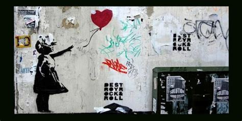 banksy girl  red balloon removed  liverpool street