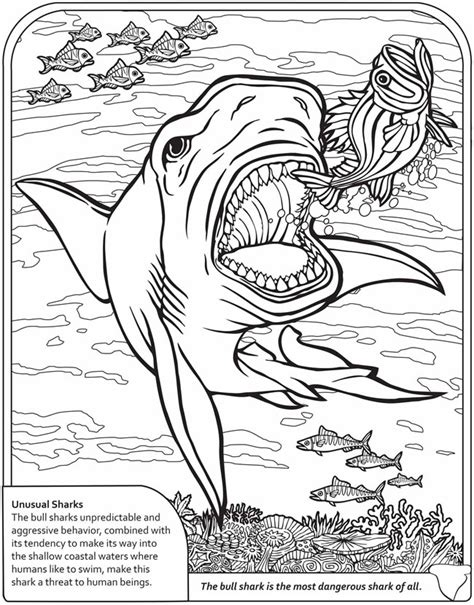 coloring pages of fish and sharks dinosaur and sharks coloring pages kids coloring