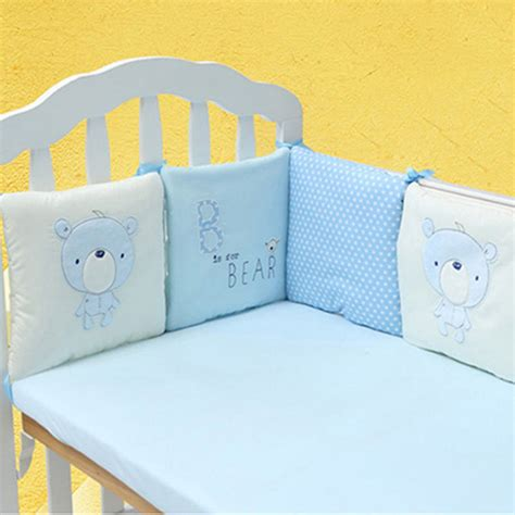 Baby Crib Cot Bumper Infant Toddler Bed Protector Pillow Baby Crib Protector