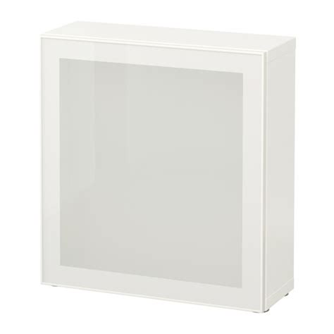 Besta Regal Mit Türen by Best 197 Regal Mit Glast 252 R Wei 223 Glassvik Wei 223 Frostglas Ikea