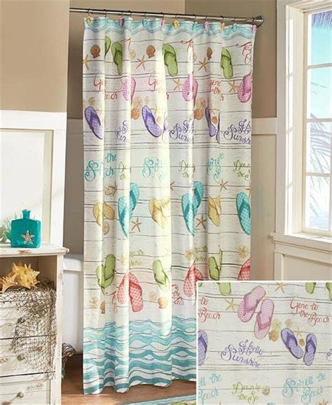 tropical themed shower curtains tropical paradise flip flops beach themed bathroom shower