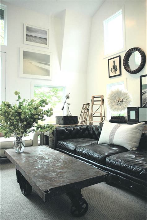 Living Room Black Sofa How To Decorate A Living Room With A Black Leather Sofa Decoholic