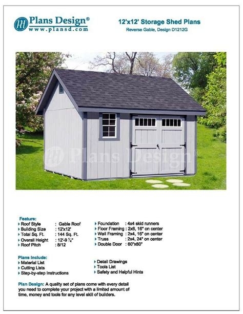 shed plans       reverse gable roof