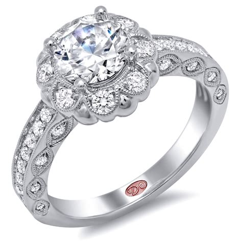 flower inspired engagement rings demarco bridal jewelry
