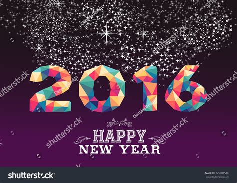 new year 2015 poster design happy new year greeting card poster stock illustration
