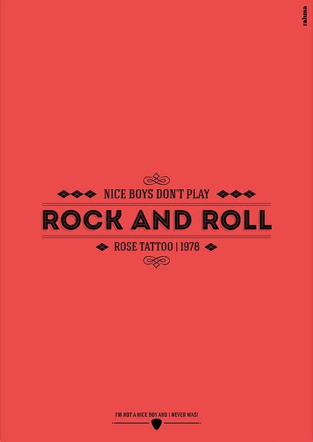 rose tattoo nice boys boys don t play rock and roll typography typo and