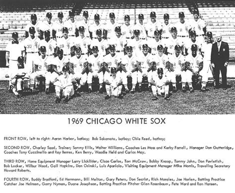 thedeadballera 1969 chicago white sox team photo