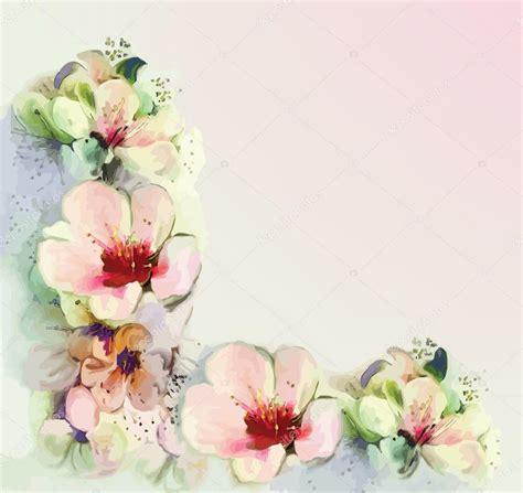 imagenes de flores retro tarjetas de flores vintage en colores pastel vector de