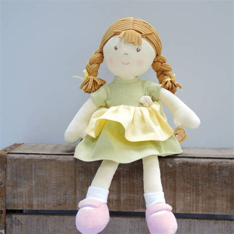 rag doll not on the high babies personalised cotton rag doll by the alphabet gift
