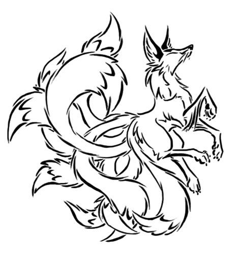 tattoo designs you can draw tribal kyuubi by basiliskzero on deviantart