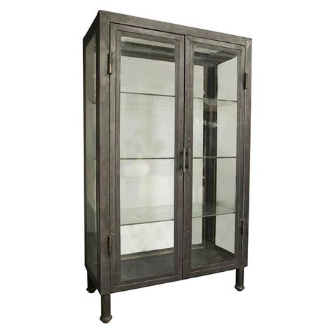 Glass Door Bar Cabinet Noir Metal Bar Cabinet I Zinc Door