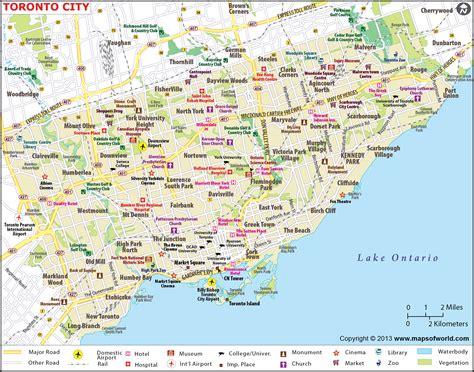 toronto canada map diverse course significantly forward soak earlier