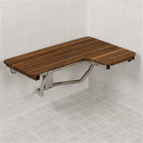 ada shower bench 32 quot wide teak ada left hand l shaped shower seat teakworks4u