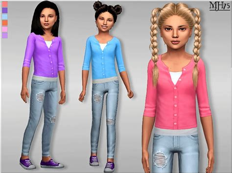 child sims 3 jeans margeh 75 s s4 casual summer outfit cf
