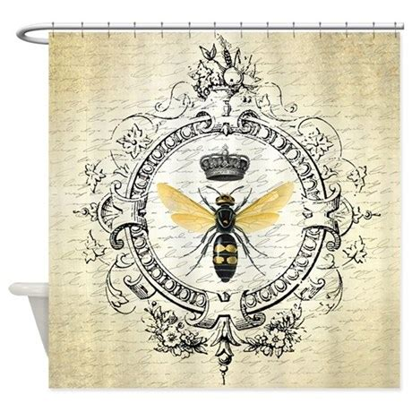 vintage french shower curtain vintage french queen bee shower curtain by