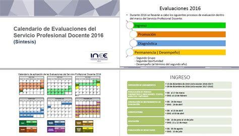 evaluaciones de desempeo docente 2016 s 237 ntesis y presentaci 243 n del calendario de evaluaciones
