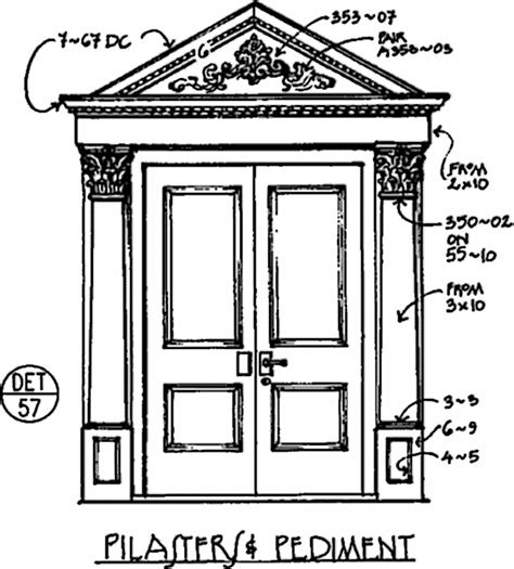 Exterior Door Pediment And Pilasters Sfv Exterior Door Surrounds Pilasters Pediment