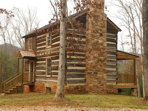 historic cabin with beautiful view of the blue ridge