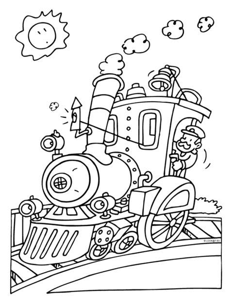 Locomotive Train Coloring Pages