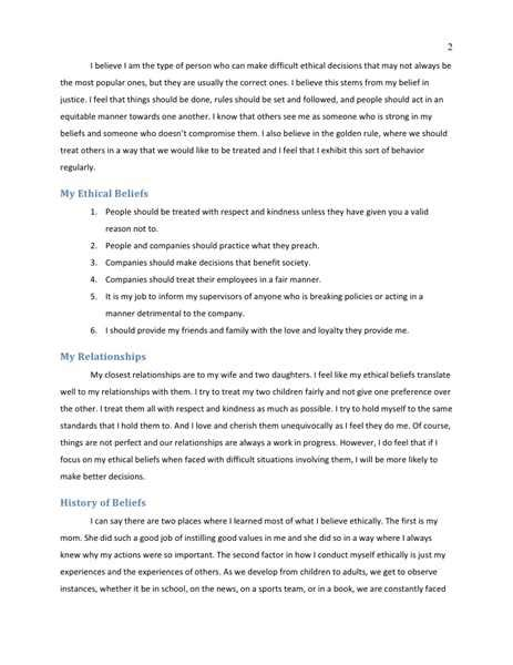 Ethics Essay Exle by Essays On Ethics