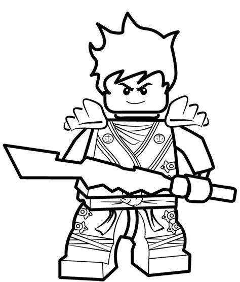 black ninjago coloring pages ninjago coloring page kai az coloring pages