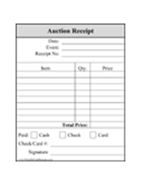 Charity Auction Receipt Template by Donation Receipts