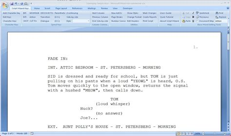 Screenwriting Software Free Microsoft Word Screenwriting Template