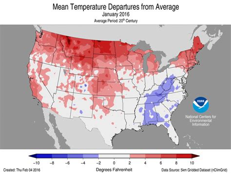 california temperature map january national climate report january 2016 january