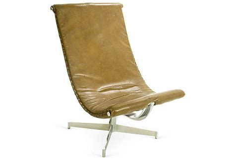 leather swing chair italian leather swing chair c 1970
