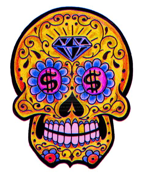 design is dead sugar skull portrait apparel