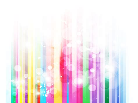 Rainbow Stripes Bubble Backgrounds Abstract Multi Color Templates Free Ppt Grounds And Powerpoint Rainbow Template