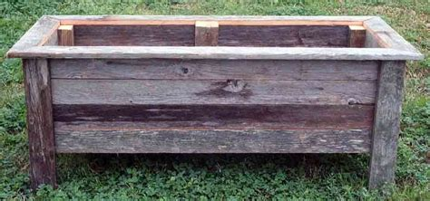 Rustic Wood Planter Box by Rustic Barnwood 36 Inch Rectangle Planter Box Outdoor