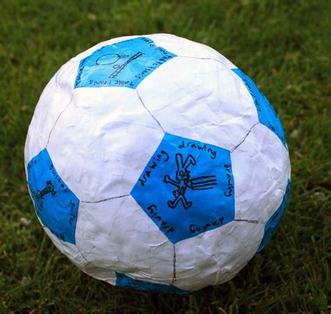 How To Make A Paper Mache Football - paper crafts for children 187 papier mache