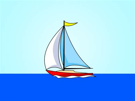 how to draw a sailboat 7 steps with pictures wikihow