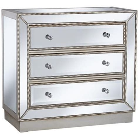 32 Inch Wide Dresser Trevi 32 Quot Wide 3 Drawer Mirrored Accent Chest Drawers