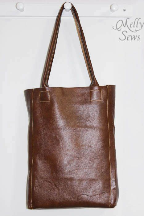 tutorial tas vinyl leather tote bag tutorial 수공예 및 가방