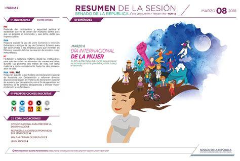 Resumen 8 De Marzo by Senado Resumen 8 De Marzo Circuito Cerrado