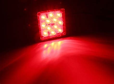 trailer hitch cover with 12 led brake light ijdmtoy red lens 12 led super bright brake light trailer