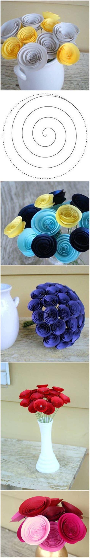 swirly paper flower tutorial best 25 easy paper flowers ideas on pinterest