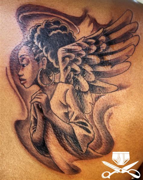 black angel tattoo hautedraws