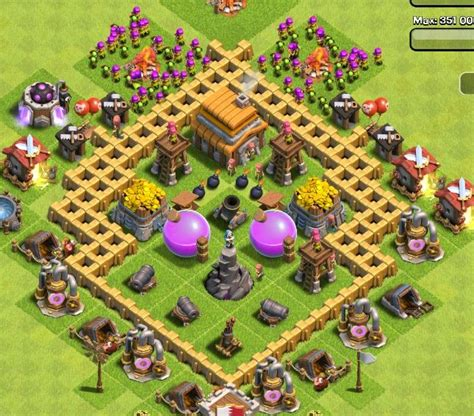 clash of clans layout guide level 5 best clash of clans town hall level 5 defense strategy