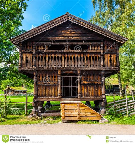 Traditional Farmhouse Plans Traditional Norwegian House Stock Image Image 58550581