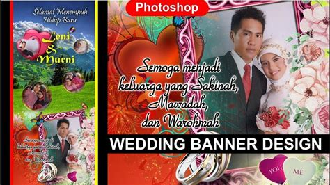 tutorial desain banner cara desain banner wedding di photoshop tutorial