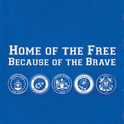 home of the free because of the brave shirts at signals