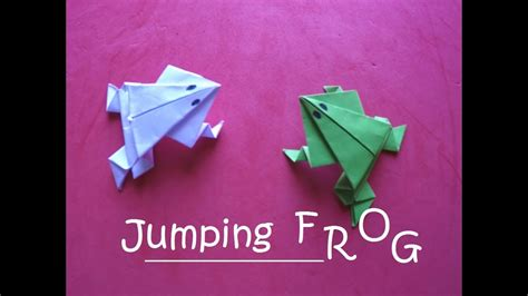 How To Make A Jumping Frog Out Of Paper - how to make a jumping frog out of paper 28 images make