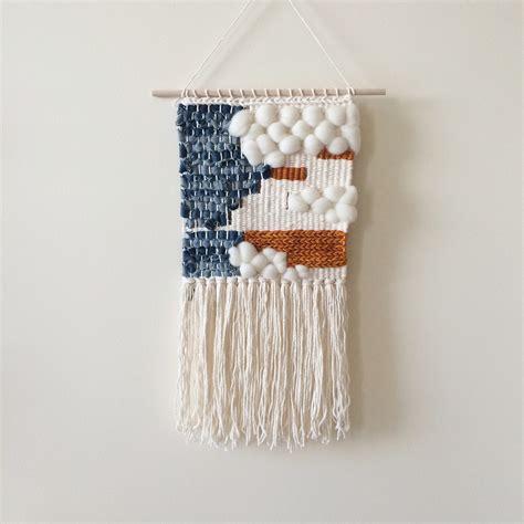 Etsy Wall Hanging - woven wall hanging denim weaving