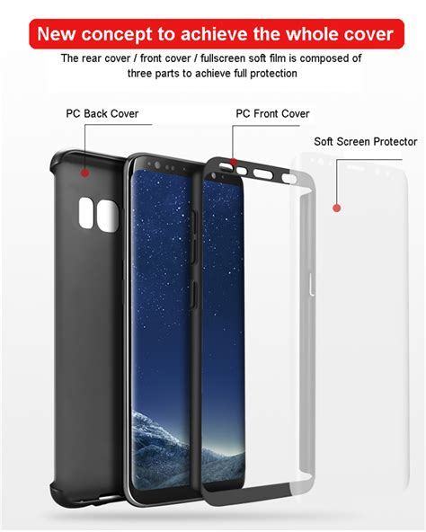Samsung S8 New 360 Cover Armor Babyskin Ultra Thin 1 bakeey 360 176 pc front back cover soft